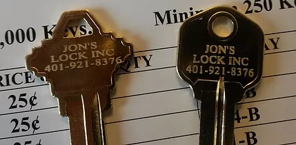 Restricted Keyways from Jon's Locks