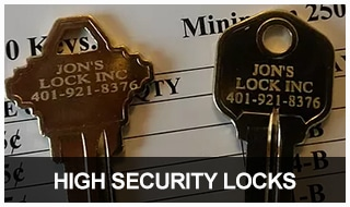 Image of two of Jon's Locks restricted keyways