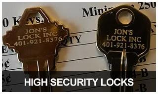 Image of two of Jon's Locks restricted keyways