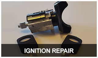 Image of a car ignition lock and keys