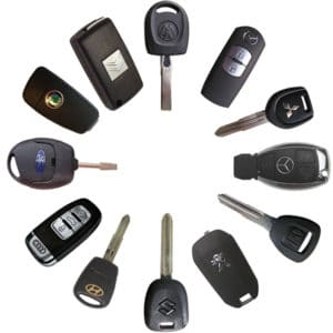 A variety of automotive keys