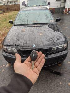 BMW 03 325xi car key replacement